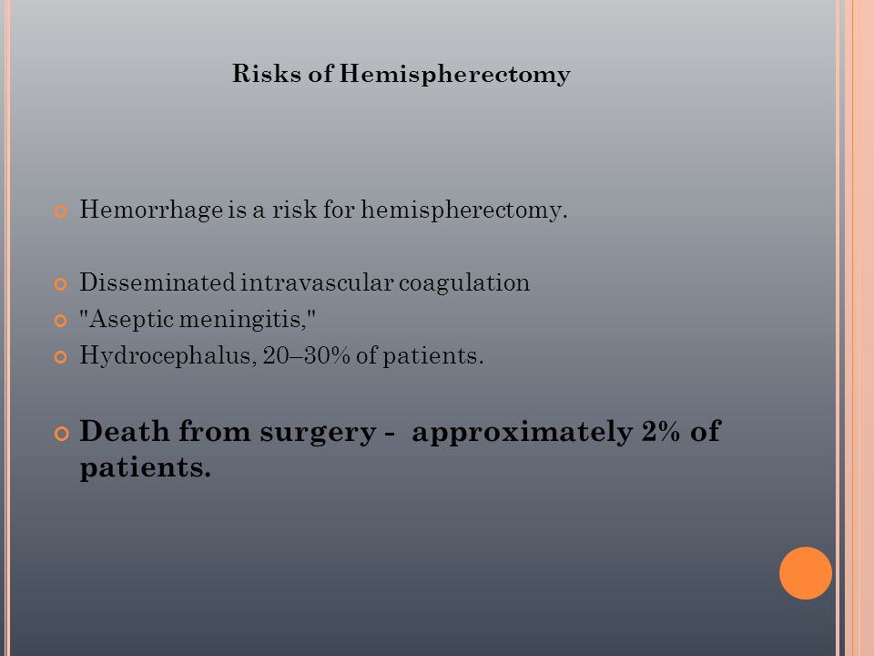 Risks of Hemispherectomy