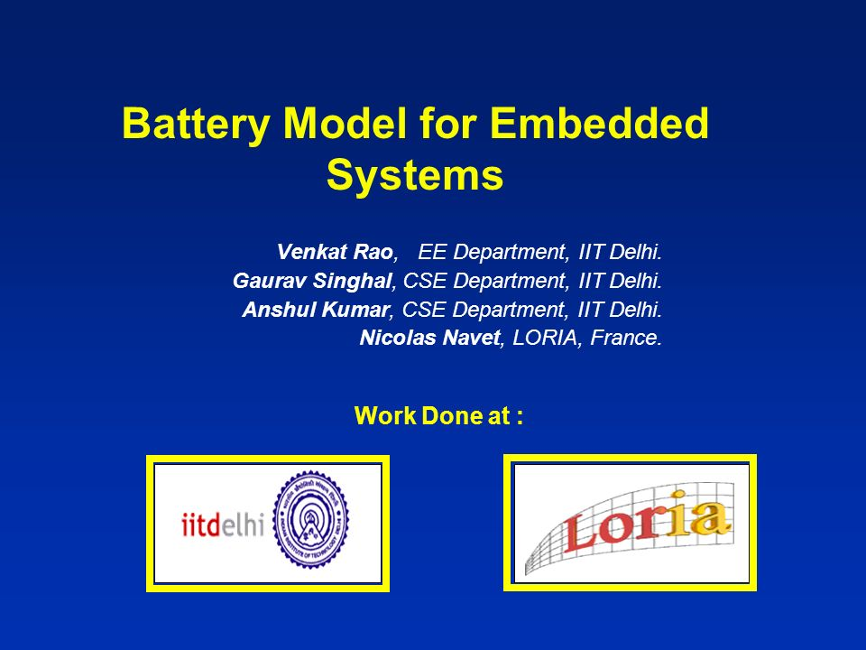Battery Model for Embedded Systems