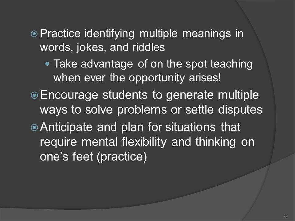Practice identifying multiple meanings in words, jokes, and riddles
