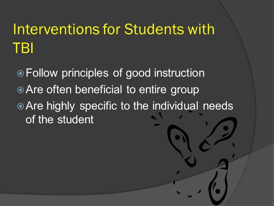 Interventions for Students with TBI