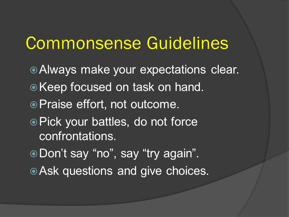 Commonsense Guidelines