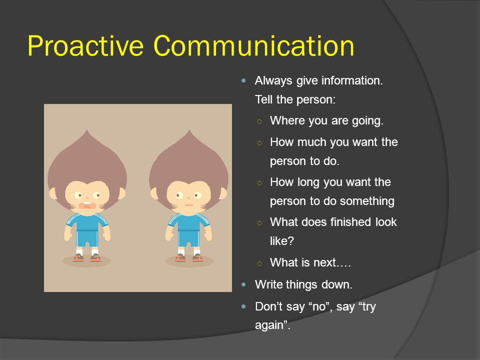 Proactive Communication
