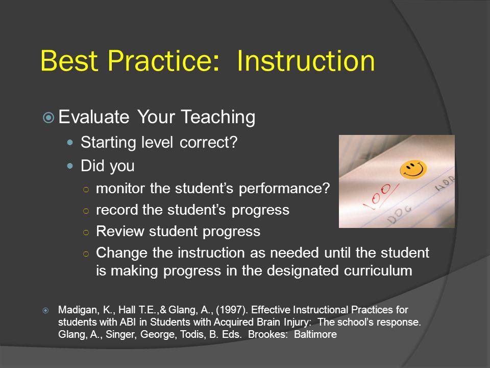 Best Practice: Instruction