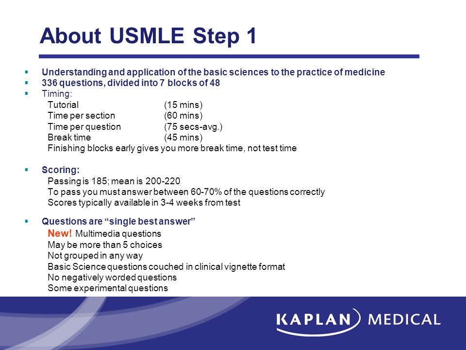 About USMLE Step 1 New! Multimedia questions