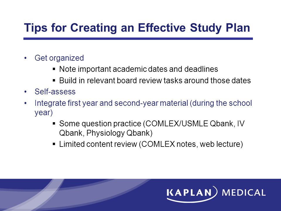 Tips for Creating an Effective Study Plan