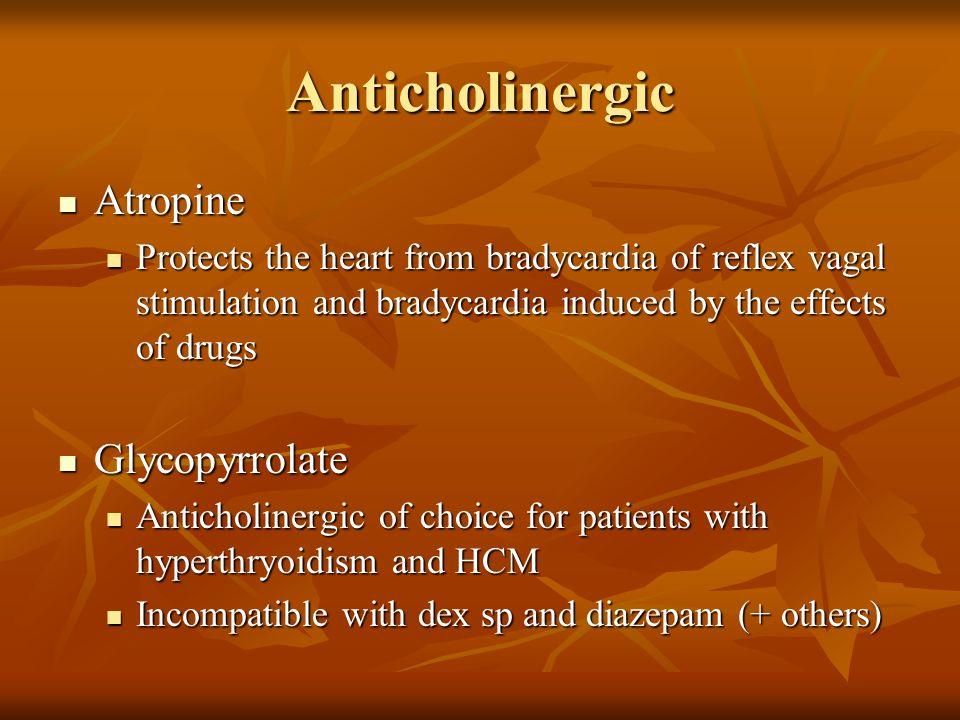 Anticholinergic Atropine Glycopyrrolate