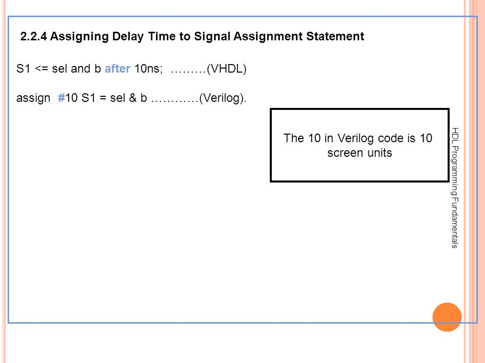 2.2.4 Assigning Delay Time to Signal Assignment Statement