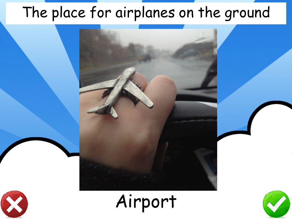 The place for airplanes on the ground