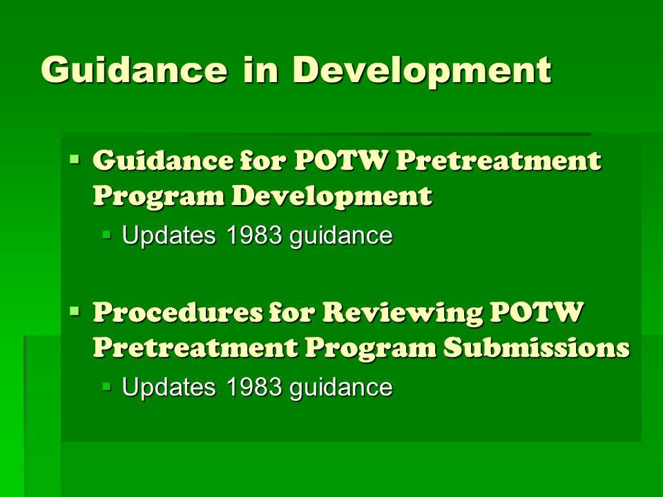 Guidance in Development