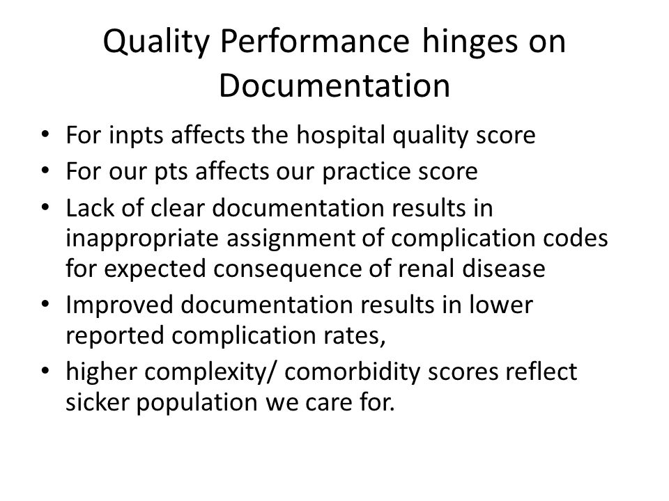 Quality Performance hinges on Documentation
