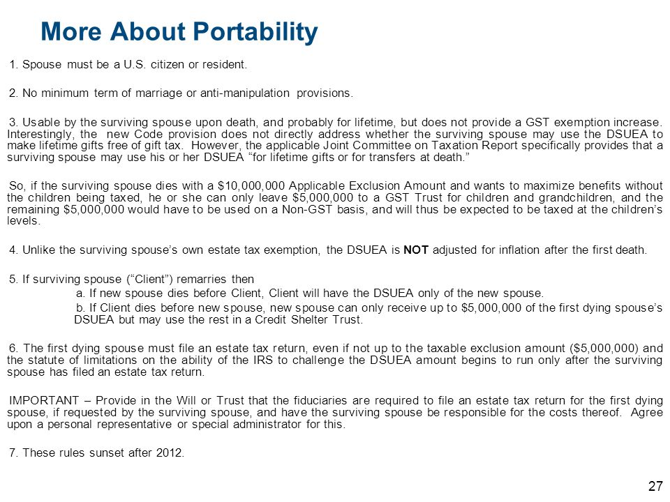 More About Portability