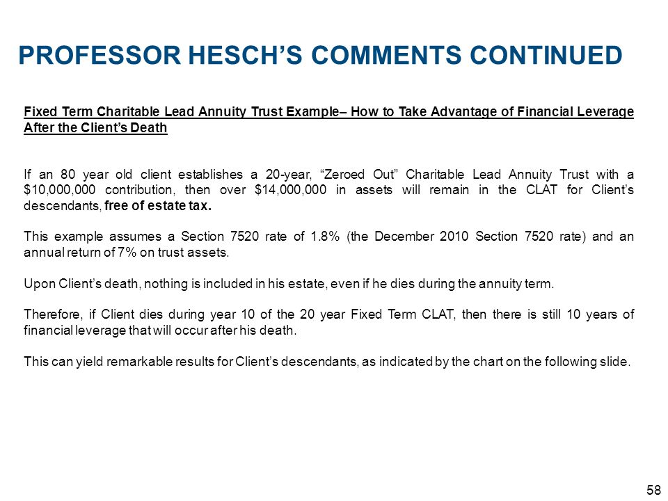PROFESSOR HESCH'S COMMENTS CONTINUED