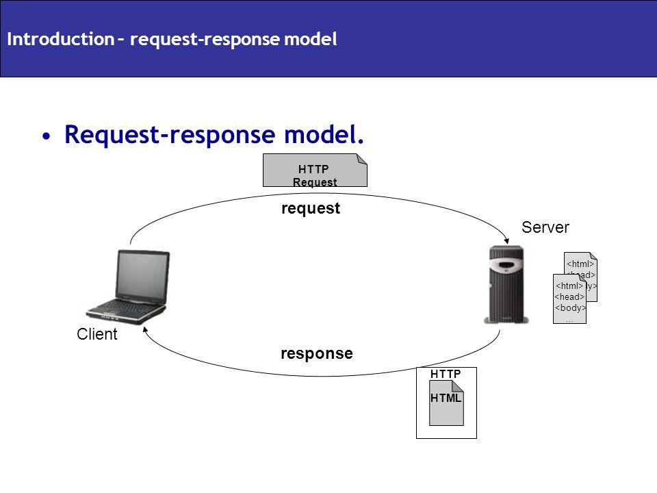 Request-response model.