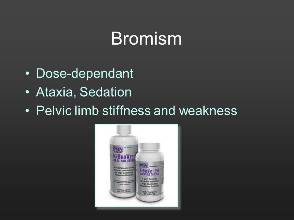 Bromism Dose-dependant Ataxia, Sedation