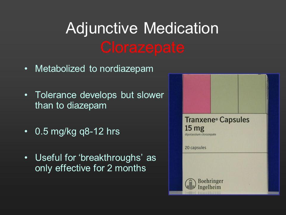 Adjunctive Medication Clorazepate