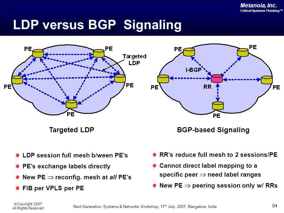LDP versus BGP Signaling