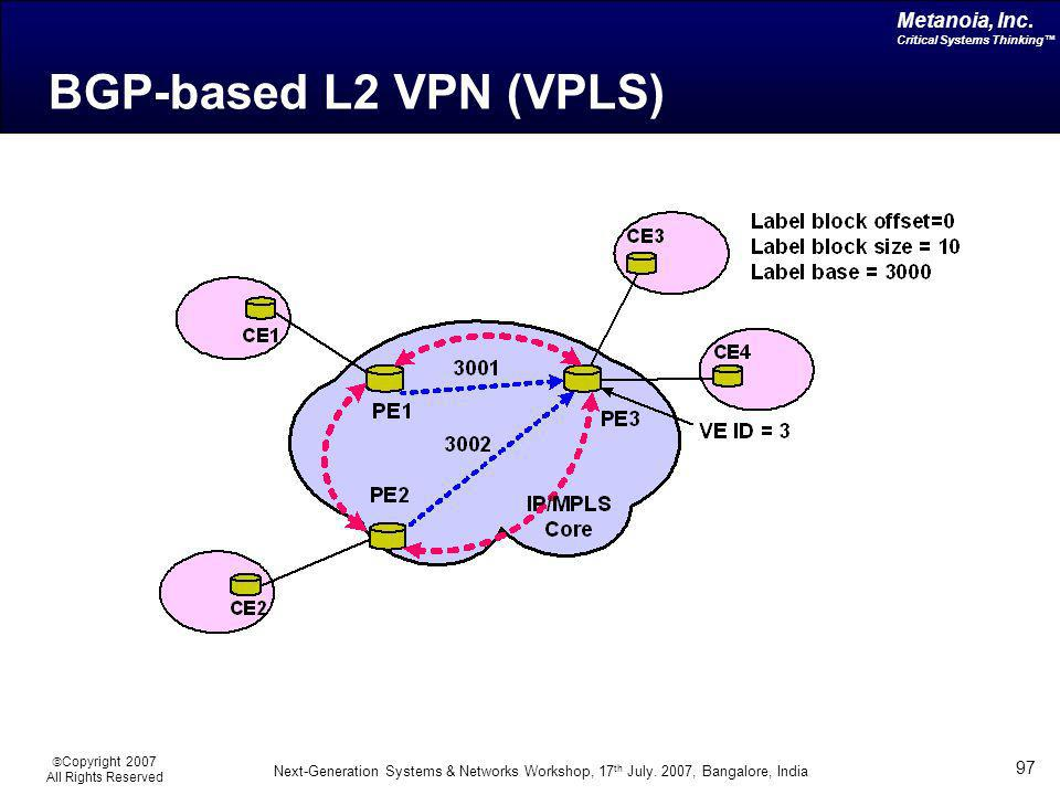 BGP-based L2 VPN (VPLS)