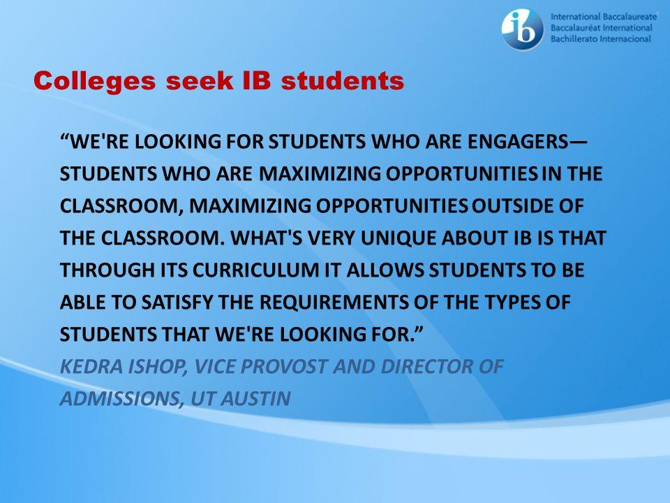 Colleges seek IB students