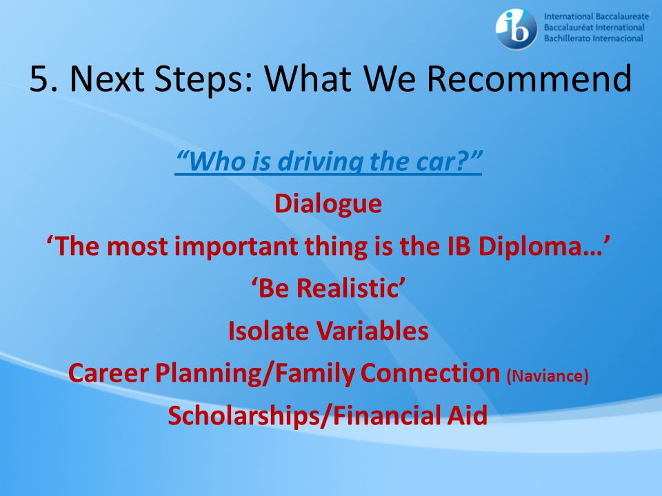 5. Next Steps: What We Recommend