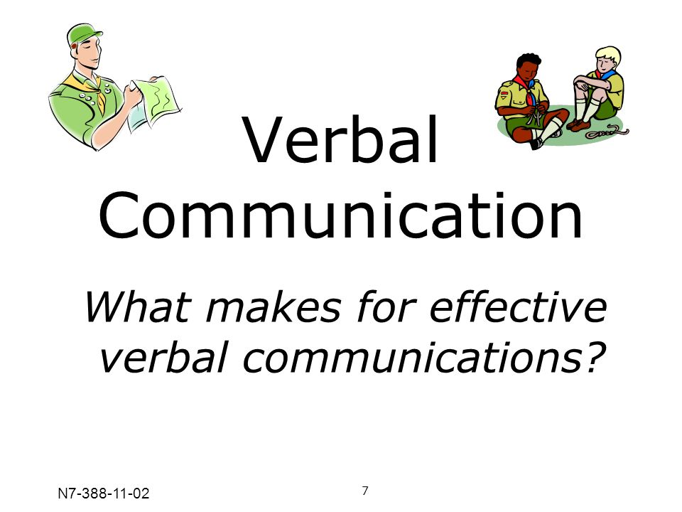 Verbal Communication What makes for effective verbal communications