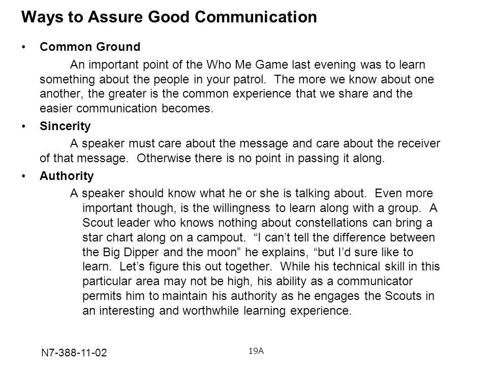 Ways to Assure Good Communication