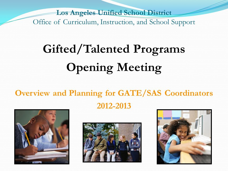 Gifted/Talented Programs Opening Meeting