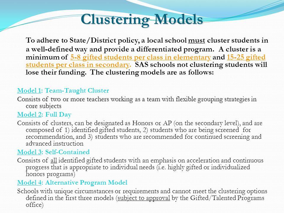 Clustering Models