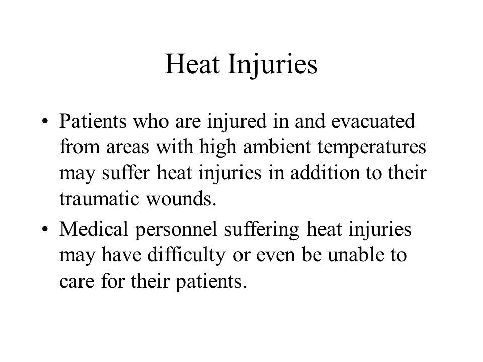 Heat Injuries
