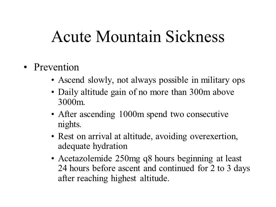 Acute Mountain Sickness