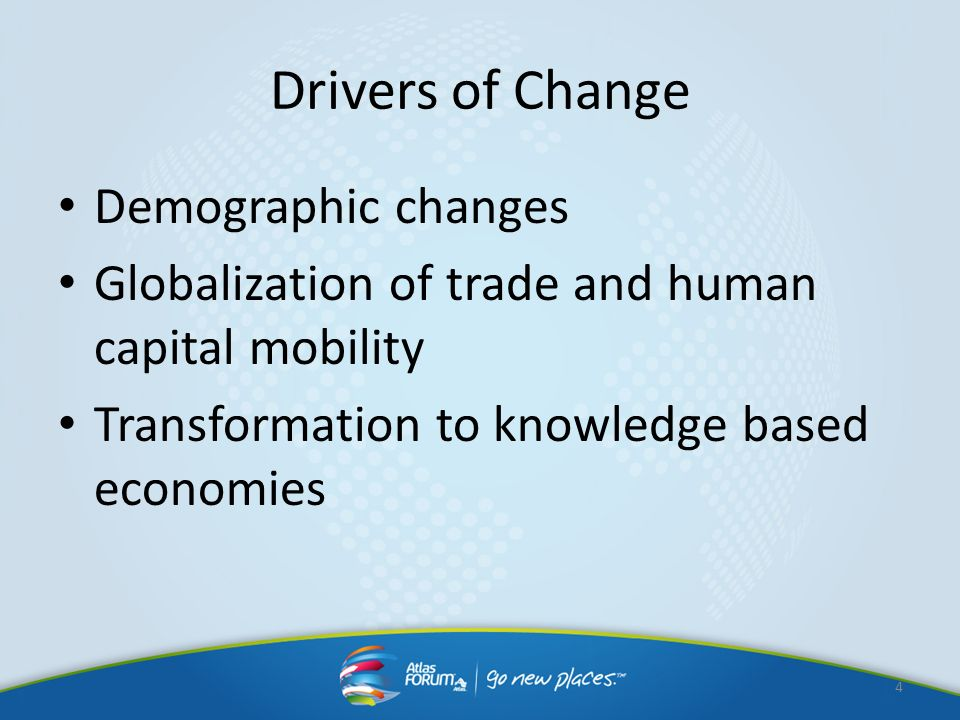 Drivers of Change Demographic changes