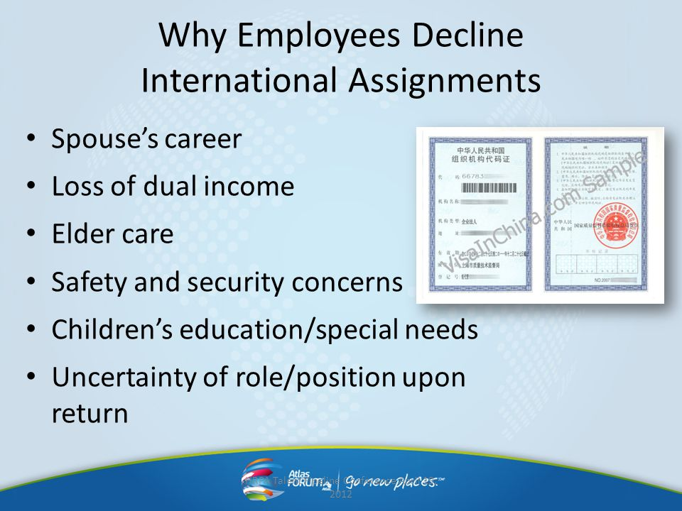 Why Employees Decline International Assignments