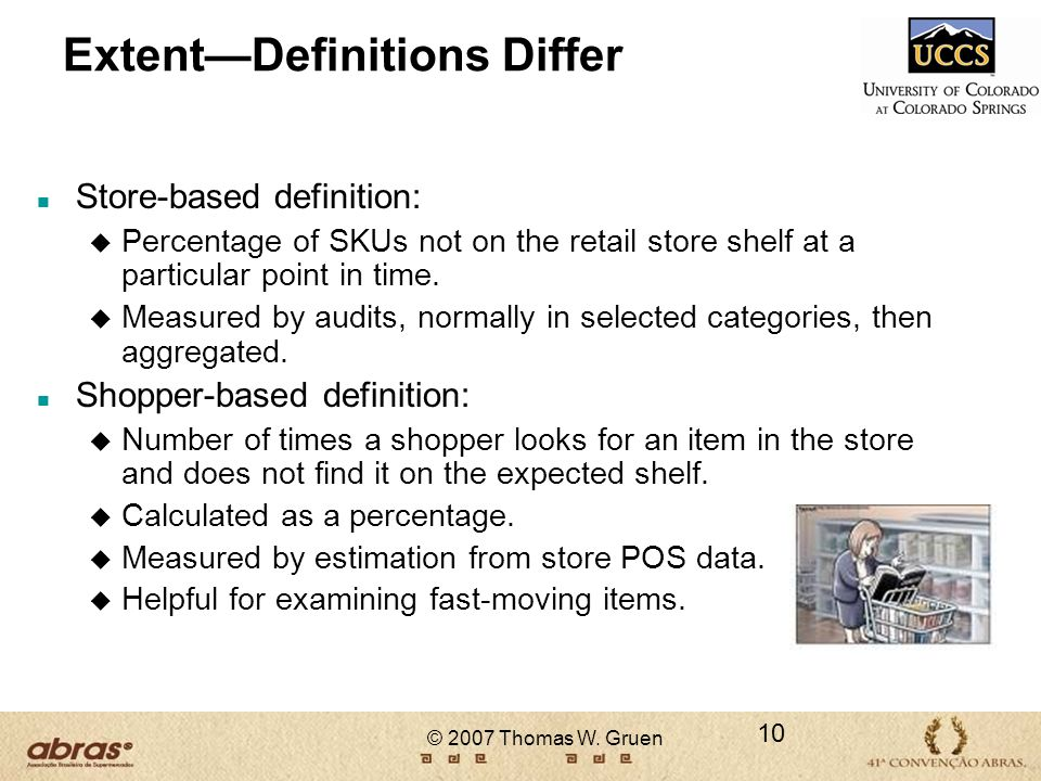 Extent—Definitions Differ
