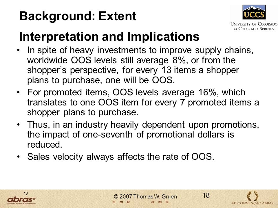 Background: Extent Interpretation and Implications