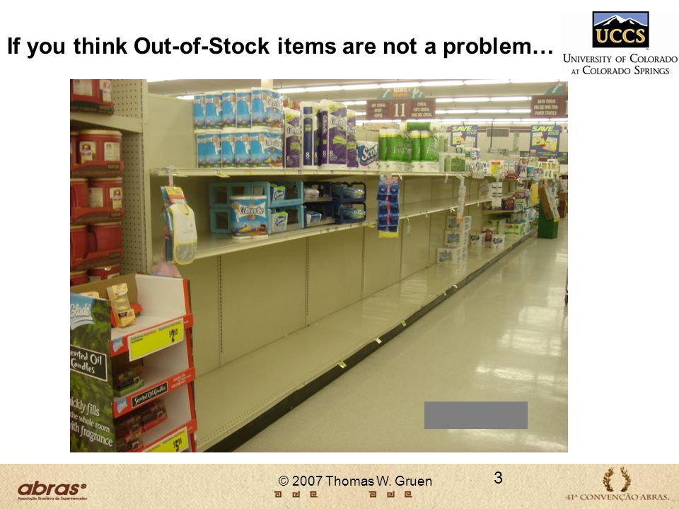 If you think Out-of-Stock items are not a problem…