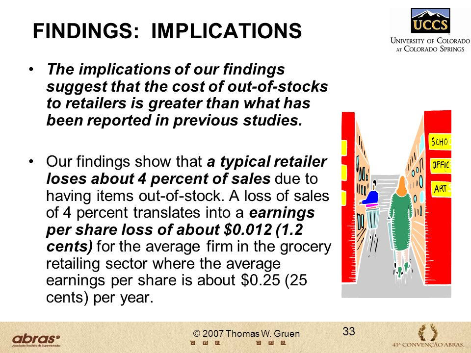 FINDINGS: IMPLICATIONS
