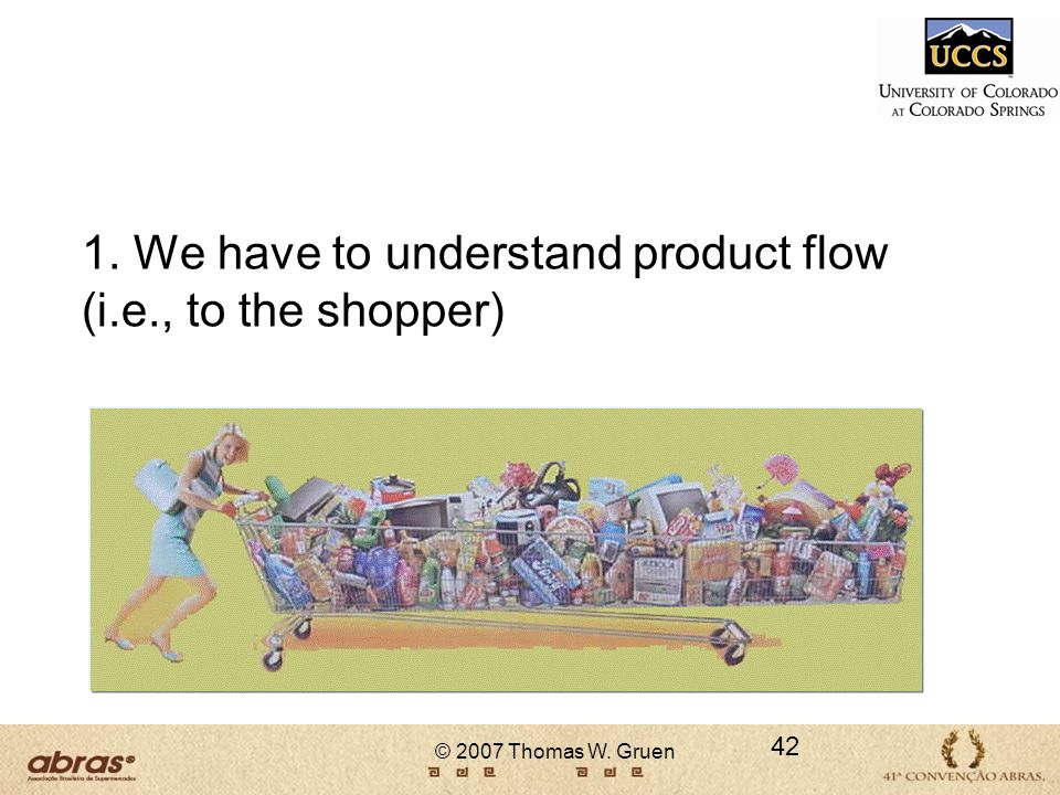 1. We have to understand product flow (i.e., to the shopper)