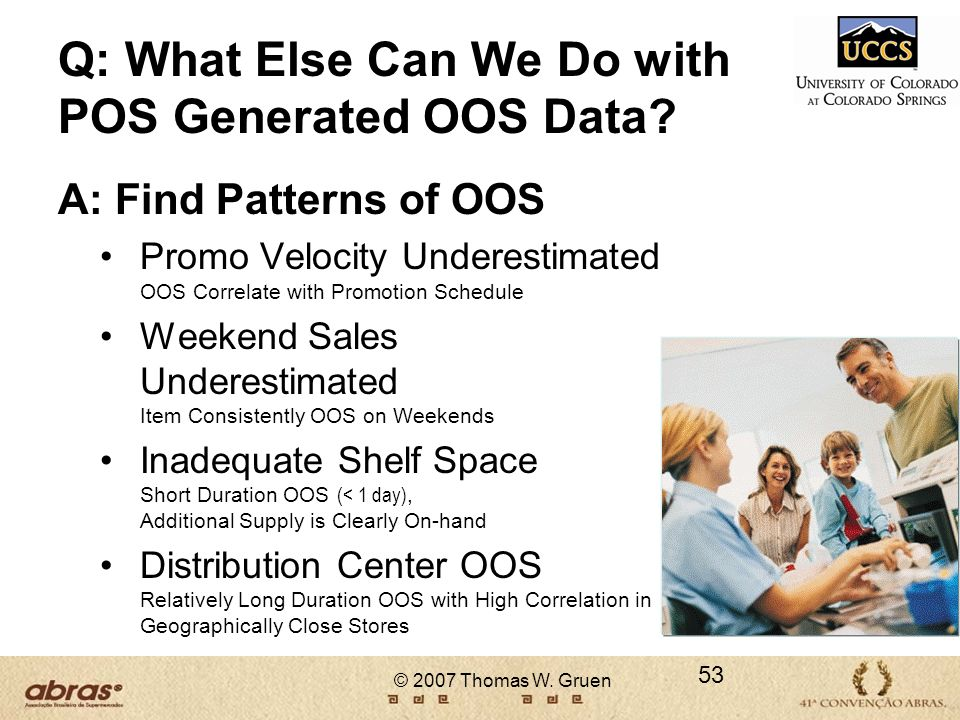 Q: What Else Can We Do with POS Generated OOS Data