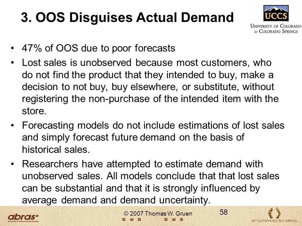 3. OOS Disguises Actual Demand