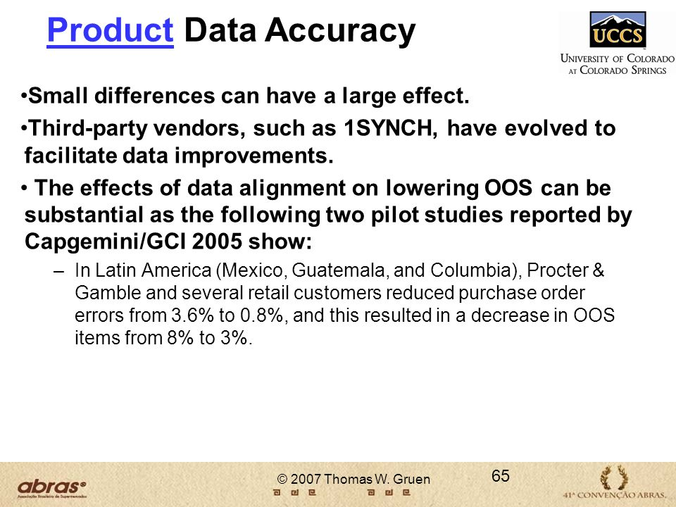 Product Data Accuracy Small differences can have a large effect.
