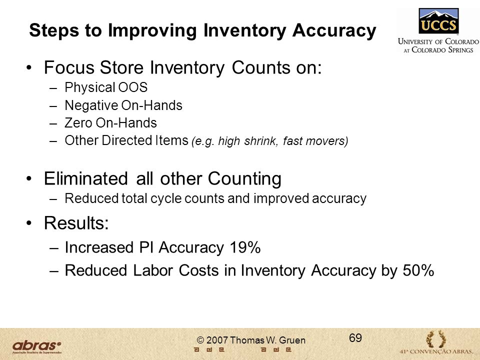 Steps to Improving Inventory Accuracy
