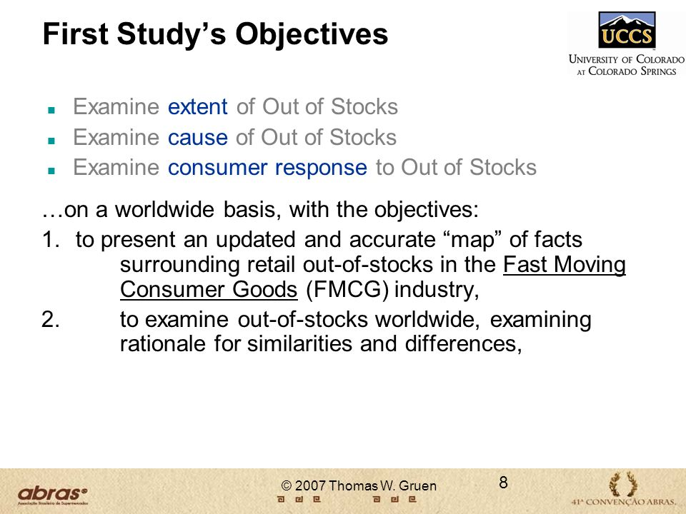 First Study's Objectives