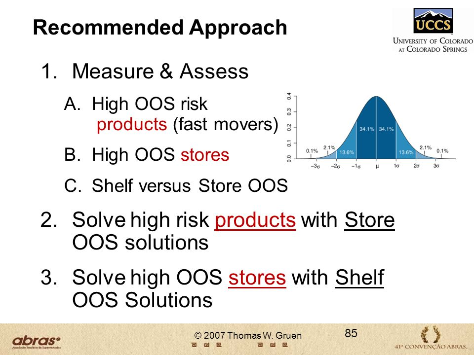 Solve high risk products with Store OOS solutions