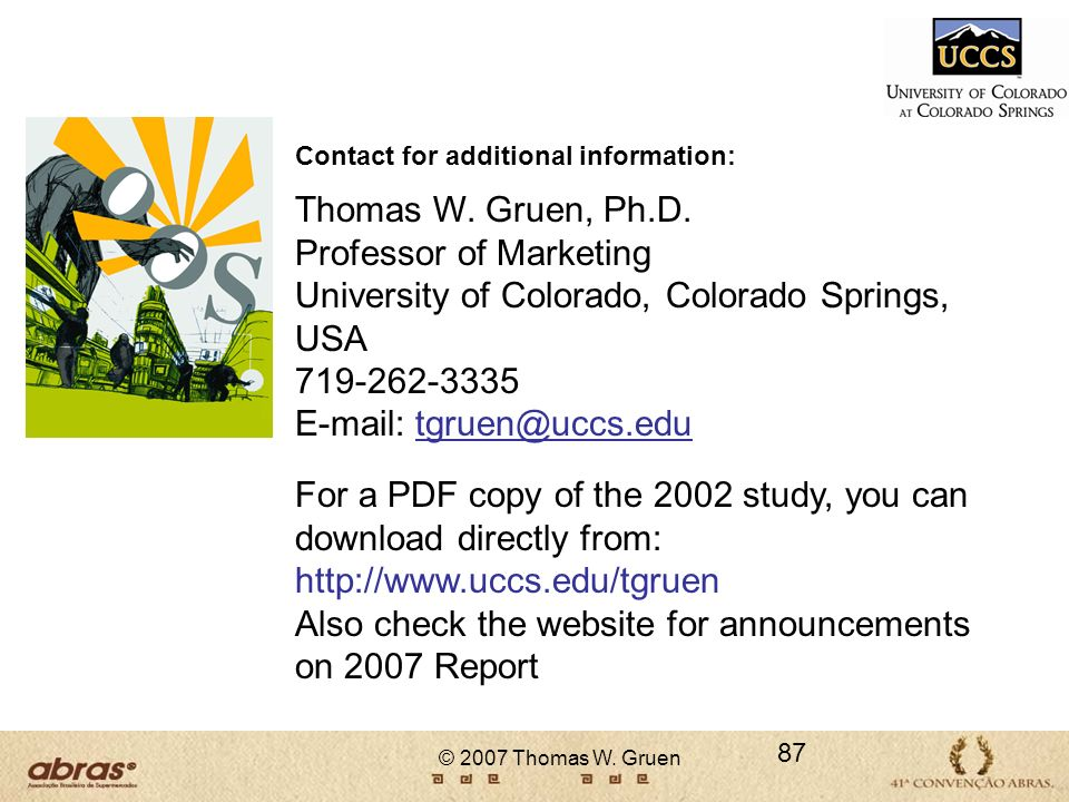 Professor of Marketing University of Colorado, Colorado Springs, USA