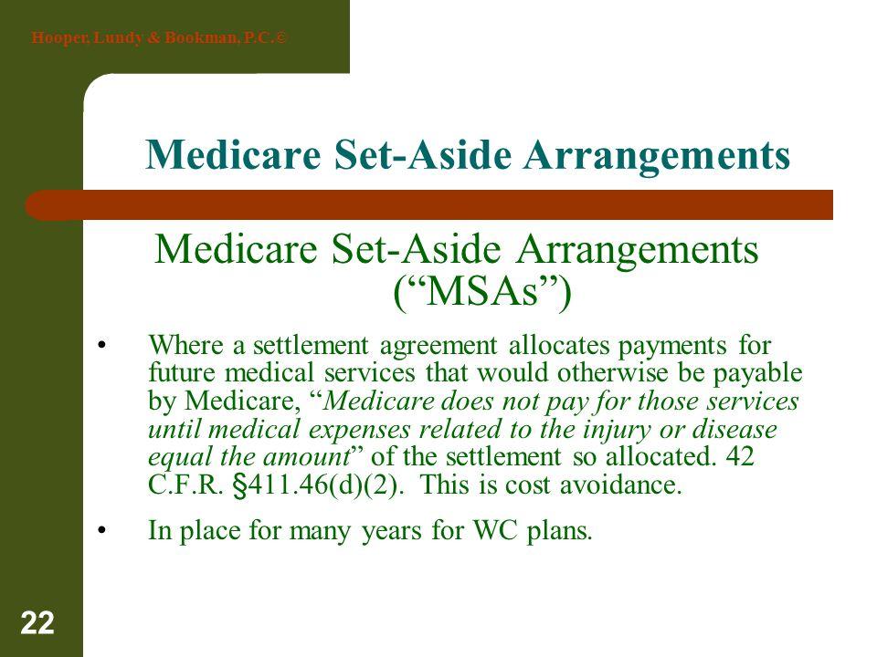 Medicare Set-Aside Arrangements
