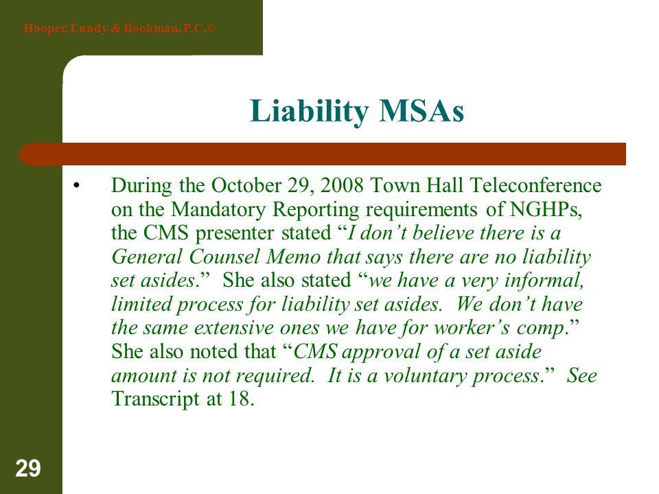 Liability MSAs