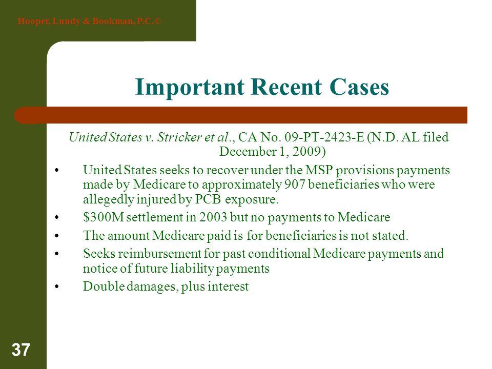 Important Recent Cases