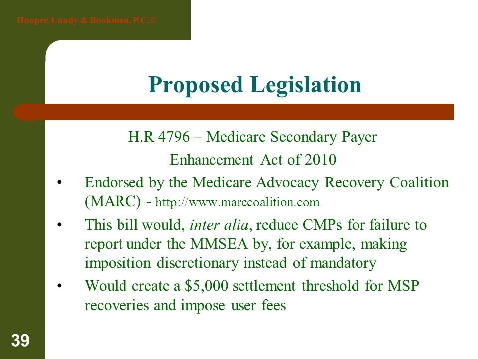 H.R 4796 – Medicare Secondary Payer