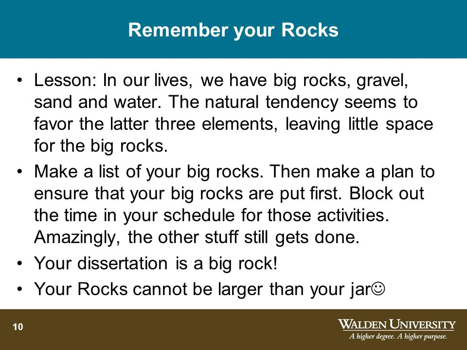 Remember your Rocks