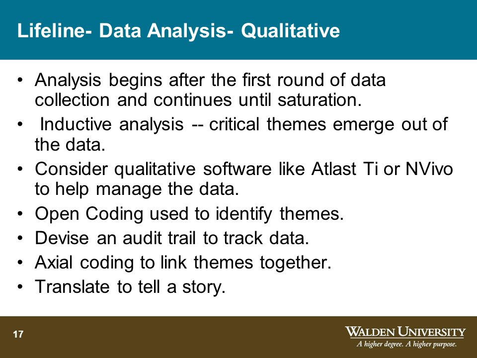 Lifeline- Data Analysis- Qualitative