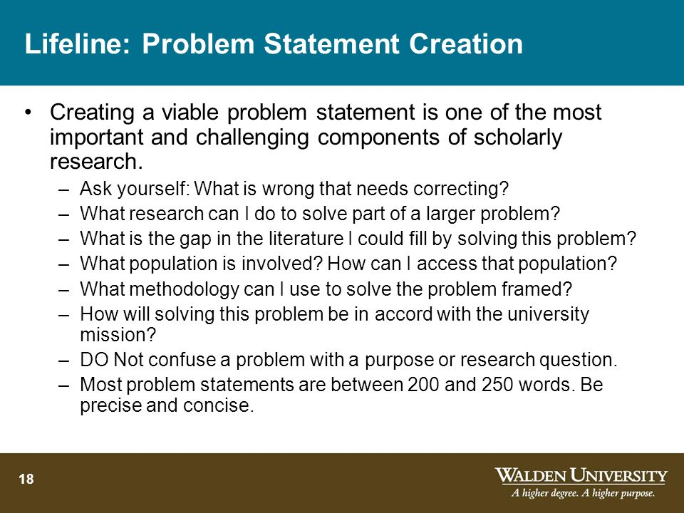 Lifeline: Problem Statement Creation